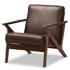 mid century modern club chairs affordable furniture chicago living room top baxton studio bianca midcentury walnut wood dark brown distressed faux leather lounge chair 970x970