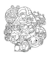 Angry Bird Star Wars Coloring Pages Angry Birds Star Wars Coloring