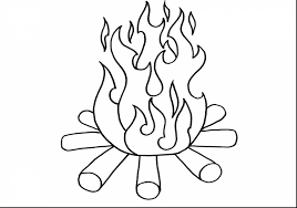 Small Picture Fire Coloring Page Campfire Best Of itgodme
