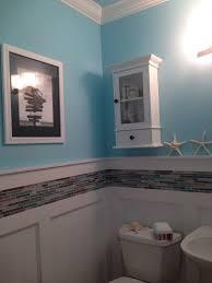 aqua glass tubs inspirational half bath makeover aqua walls to match the sea glass sand colored