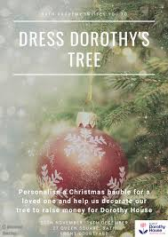Personalised Light Up Christmas Baubles Dress Dorothys Tree Charity Event Bath Academy