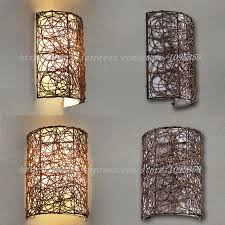excellent modern handmade rattan wall sconces lamp brownwhite color bedroom with handmade light fixtures