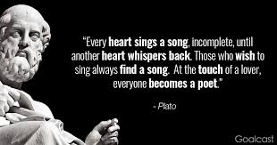 Plato Quotes Interesting Plato Quote Two Hearts Sing A Song Goalcast