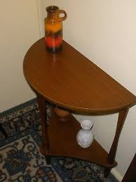 2 of 8 vintage retro half round hall table very good condition seymour sons