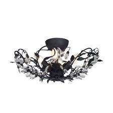 Bloemen Design Plafondlamp Sidney I Zwart Lampgigantnl