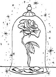 15 New Beauty And The Beast Coloring Pages Rose Karen Coloring Page