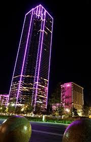 Downtown Dallas Purple Lights Bank Of America Plaza Dallas Wikiwand