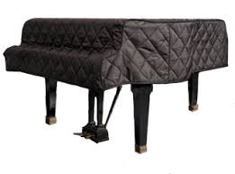 GRK Black Quilted Piano Covers