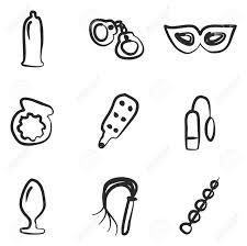 大人のセックスのおもちゃアイコン フリーハンド