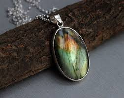 labradorite sterling silver pendant natural gemstone pendant at astudio1980 com