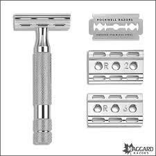 <b>Rockwell Razors</b> 6C White Chrome Adjustable DE Safety Razor ...