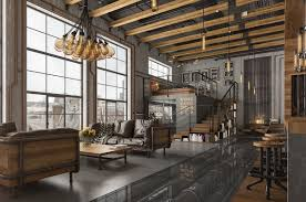 industrial home lighting. Livingroom:Loft Living Room Design With Modern Industrial Style Roohome Home Decor Lighting Designs Rustic N