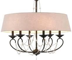 inspirational crystal drum shade chandelier for medium size of graceful bronze iron burlap crystals drum chandelier