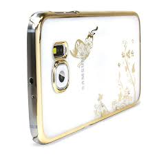 samsung galaxy s6 gold case. olixar butterfly samsung galaxy s6 shell case - gold / clear x
