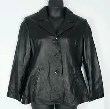wilsons italian leather black womens on jacket coat ery sz xl nwt