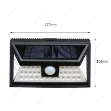 Outdoor 36 Led Solar Pir Motion Sensor 1w Waterproof Wall Lamp 3 Sides View