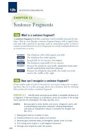 Chapter 12 Sentence Fragments Pearson Education Pages 1 7 Text