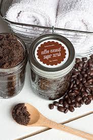homemade coffee coconut sugar scrub