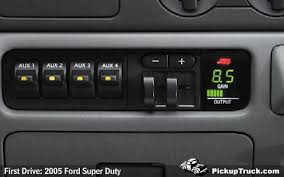 pickuptruck com first drive 2005 ford super duty there are audible and visual warnings to any malfunctions or if the trailer wiring should become disconnected the brake controller