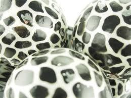 Leopard Decorative Balls Capiz Large Decorative Balls Orbs Spheres African Safari Giraffe 53