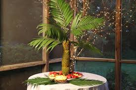 Luau Party Pineapple Palm Tree Fresh Fruit Display KitFresh Fruit Tree Display