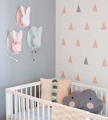 triangle wall design gender neutral baby room home