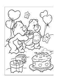 Fresh Happy Birthday Bear Coloring Pages Teachinrochestercom