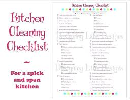 House Cleaning Checklist Templates Professional Template Household