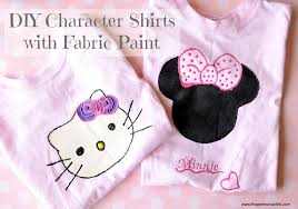 How To Design A Shirt With Paint Easy Minnie Mouse And Hello Kitty T Shirts With Fabric Paint