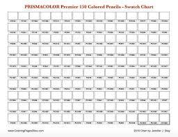 Prismacolor Premier 150 Swatch Chart Color Charts