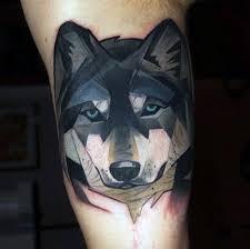 90 Geometrické Vlk Tetování Vzory Pro Muže Manly Inkoustové Nápady