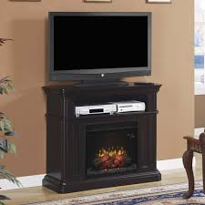amish electric fireplace media center