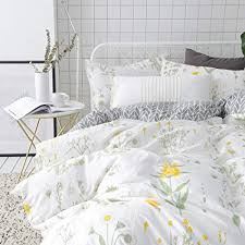 yellow queen bedding. Beautiful Yellow VClife Floral Duvet Cover Sets Full Queen Bedding White Yellow Flower  Branches Design On