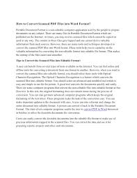 How To Convert Scanned Pdf Files Into Word Format