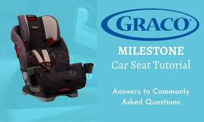 graco milestone car seat tutorial