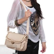 <b>Women's</b> New Retro <b>Fashion Korea</b> Girl Small Rivet Lock <b>Shoulder</b> ...