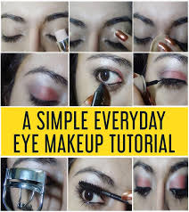 a simple everyday eye makeup tutorial with deled steps pictures