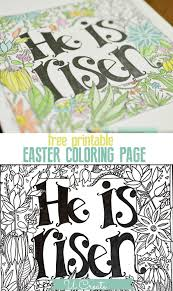 Small Picture He is Risen Coloring Page Free Printable at U Create FREE