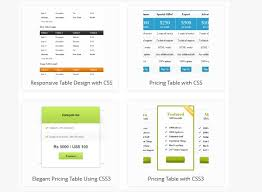 web table design. Interesting Web CssPricingTable07 Elegant Pricing Table Design For Your Website With Web Design O