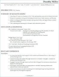 English Teacher Skills For Resume Kantosanpo Com