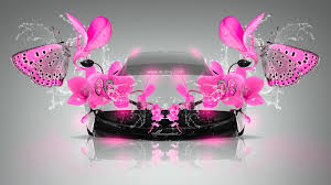 pagani huayra fantasy butterfly flowers car