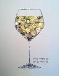 wine on art wine glass decoration white by bellepapiers 124 00