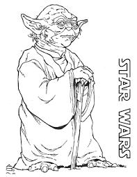 Star Wars Coloring Pages Free Printable Yoda Telematik Institutorg