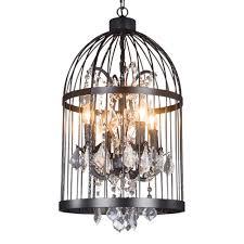 Bird Ceiling Light Fixture 13 8 Inch Industrial Metal Bird Cage Pendant Light With 4