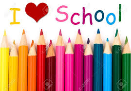 I Love School , A Pencil Crayon Border Isolated On White Background With Words I Love School Stock Photo, Picture And Royalty Free Image. Image 20555645.