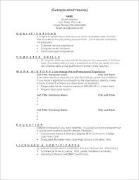 Example Work Skills Resume Examples Of For A Information