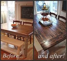 farmhouse table diy kitchen table