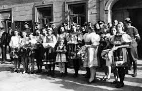 Výsledek obrázku pro vítání Němců v Praze