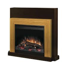 dimplex 45 in w espresso and bamboo wood electric fireplace with thermostat and remote control