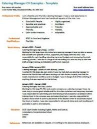 catering manager cv example